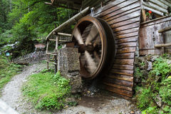 Spinning Mill Wheel Stock Photo