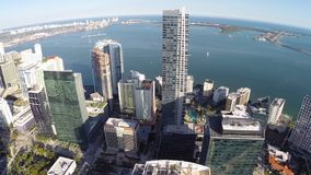 Spinning over Brickell Miami Royalty Free Stock Photo