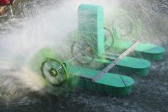 Spinning Paddle Wheel Aerators stock photo
