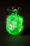 Spinning plastic dreidel Stock Images