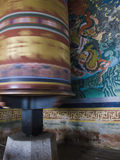 Spinning Prayer Wheel in Bhutan Royalty Free Stock Photography