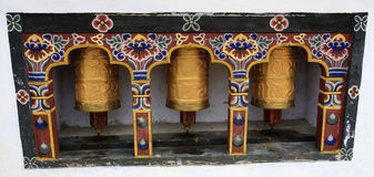 Spinning Prayer Wheels Royalty Free Stock Photos