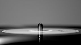 Spinning Record. A vinyl record on a turntable spinning Royalty Free Stock Photography