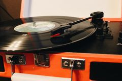 Spinning Record stock images