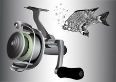 Spinning reel. Fish and watersport Stock Photography