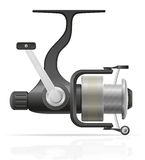 Spinning reel for fishing vector illustration Stock Photography