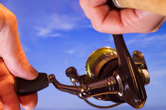 Spinning reel Stock Image