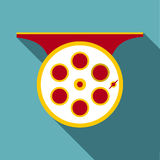 Spinning reel icon, flat style Stock Photography
