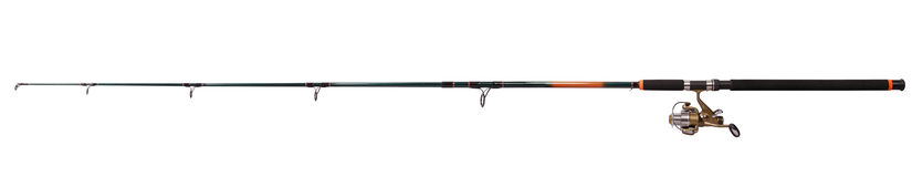 Spinning rod for fishing (Clipping path) Stock Photos
