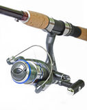 Spinning rod and reel Stock Photo