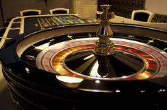Spinning roulette in casino Royalty Free Stock Images