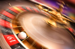 Spinning roulette Stock Photo
