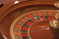 Spinning Roulette Wheel Royalty Free Stock Image