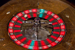 Spinning Roulette Wheel Stock Images