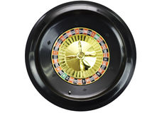 Spinning roulette wheel. Isolated on white background royalty free stock photo