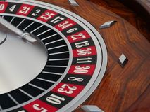 Spinning roulette wheel Royalty Free Stock Photography