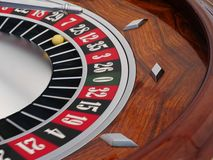 Spinning roulette wheel Stock Photos