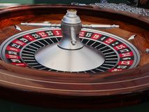Spinning roulette wheel Royalty Free Stock Images