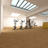 Spinning section on the gym Stock Photos