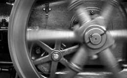 Spinning Steam Powered Generator Wheel Royalty Free Stock Photo