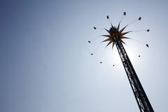 Spinning swing at fairground Royalty Free Stock Photos