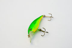 Spinning tackle, fishing tackle. Fishing lure Stock Images
