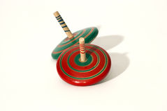 Spinning top. Red and green Royalty Free Stock Image