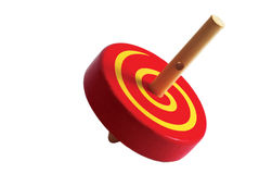 A spinning top. On white background Stock Photo