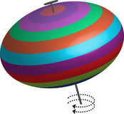 Spinning Top fun game toy childhood rotation swirl Royalty Free Stock Photo
