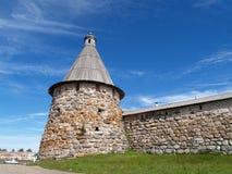 Spinning tower of Spaso-Preobrazhenskoye of the Solovki monaster Stock Photography