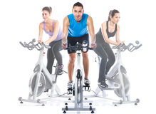 Spinning training Stock Photos