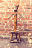 Spinning in vintage style Royalty Free Stock Photo
