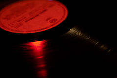 Spinning Vinyl Record Stock Photo