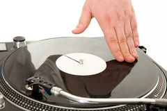 Spinning vynil disc Royalty Free Stock Images