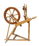 Spinning wheel. Old spinning wheel isolated on white with included clipping path Stock Photos