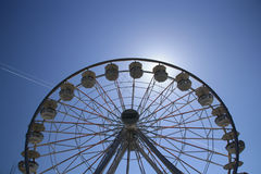 Spinning wheel. A spinning wheel under the sun, with clear sky Stock Photography