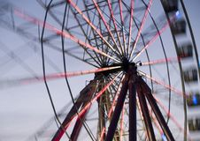 Spinning wheel. Motion blurred spokes on a spinning wheel Stock Photography