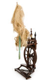 Spinning-wheel. Antique spinning-wheel before white background Royalty Free Stock Images