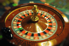 Spinning wheel in casino Stock Photography