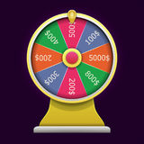 Spinning wheel of fortune. 3D realistic style. Spinning wheel of fortune. Money win casino game. 3D realistic style. Vector illustration Royalty Free Stock Photo