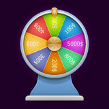 Spinning wheel of fortune. 3D realistic style. vector illustration