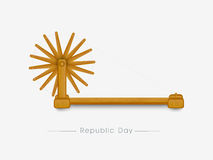 Spinning wheel for Indian Republic Day celebration. Stock Photo