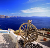 Spinning wheel Santorini Royalty Free Stock Images