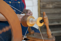 Spinning Wool Stock Photography