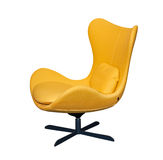 Spinning yellow office chair Stock Photo