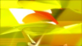 Spinning yellow and red shapes stock video