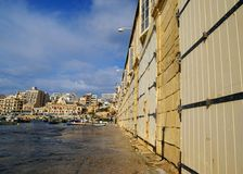 Spinola Bay, St Julian's , awesome destination in Maltese Islands. Beautiful morning at Spinola Bay, St Julian's , awesome all seasons destination in Maltese Stock Photo
