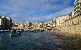 Spinola Bay, St Julian's , awesome destination in Maltese Islands. Stock Photography