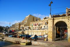 Spinola Bay, St Julian's , awesome destination in Maltese Islands. Beautiful morning at Spinola Bay, St Julian's , awesome all seasons destination in Maltese Stock Photos