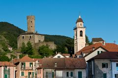 Spinola Castle in Campo Ligure Royalty Free Stock Photography
